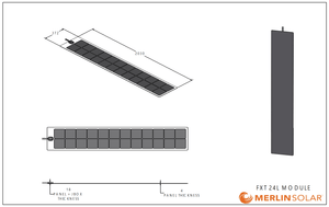 4thD Solar FX24L 110 Watt Solar Panel- Low Profile Junction, Solar Panel,4thDsolar
