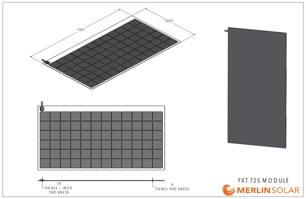FX72S 330 Watt Solar Panel- Low Profile Junction - 4thDsolar