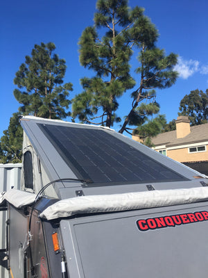 Conqueror UEV-440 FX72P 330 Watt Solar Panel- Low Profile Junction - 4thDsolar