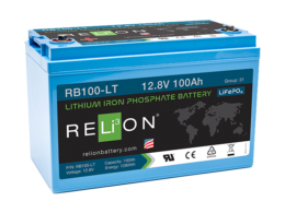 4thD Solar RB100 LT Low Temp Lithium Battery, Battery,Relion
