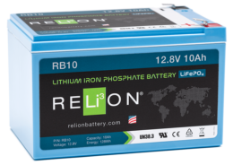4thD Solar RB10 Lithium Battery, Battery,Relion