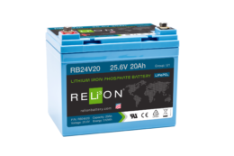 4thD Solar RB24V20 Lithium Battery, Battery,Relion