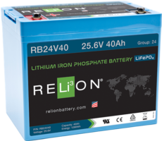 4thD Solar RB24V40 Lithium Battery, Battery,Relion