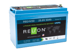 4thD Solar RB24V50 Lithium Battery, Battery,Relion