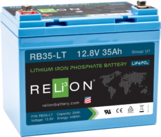 4thD Solar RB35-LT Lithium Battery, Battery,Relion