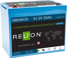 4thD Solar RB4825 Lithium Battery, Battery,Relion