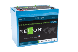 4thD Solar RB75 Lithium Battery, Battery,Relion