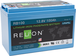 4thD Solar RB100 Lithium Battery, Battery,Relion