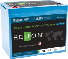 4thD Solar RB50-HP Lithium Battery, Battery,Relion