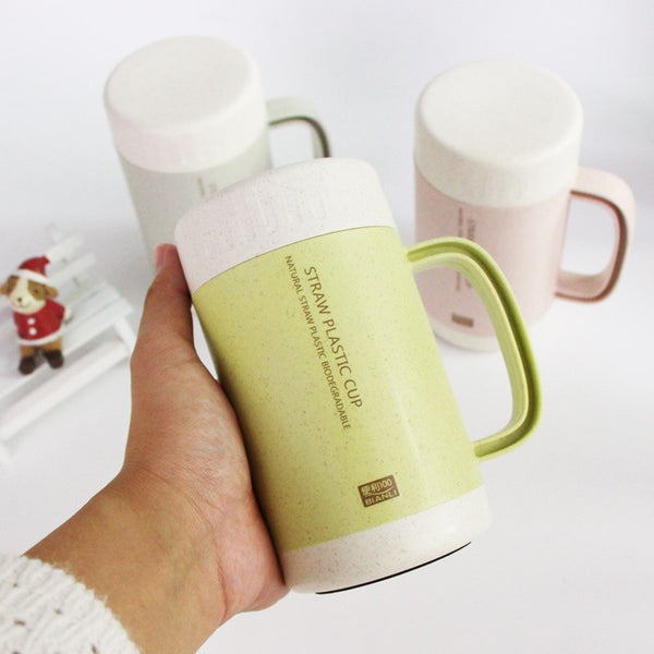 20d5e2ee30a ... Minimalism Milk, Beer, Coffee Mug with Ceramic Handle and Silicone Lid  Light Insulation ...