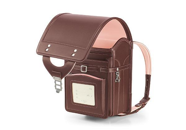 color: Brown x Pink, title: Leather Randoseru Brown x Pink