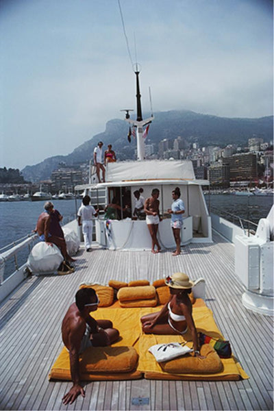 Scotti's Yacht by Slim Aarons - FINEPRINT co