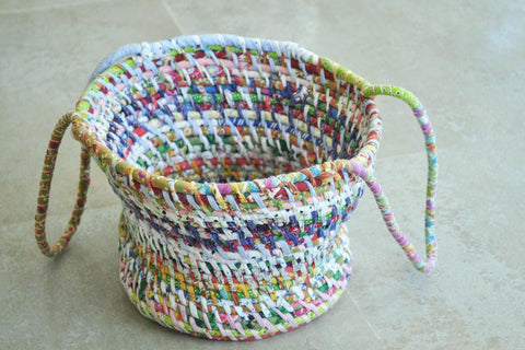 Rope Basket with handle