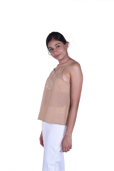 Avani Top in Khaki