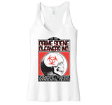 "Crime Scene Cleaners Inc ""1996"" Unfinished Racerback Tank"