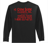 Black Long Sleeve T-shirt CSC License Plate Design