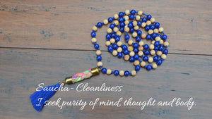 Saucha Mala, Prayer Beads, Sandalwood Mala, Meditation, Japa, Mantra Meditation