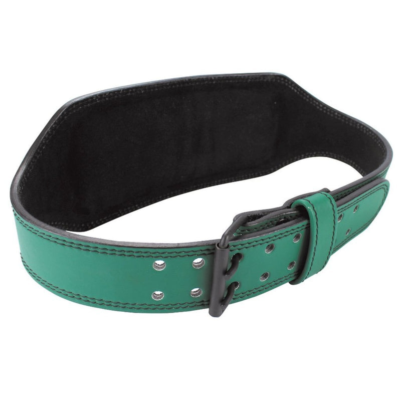 "Genuine Leather Weightlifting Belt 6"" Wide - Green - Estremo Fitness"