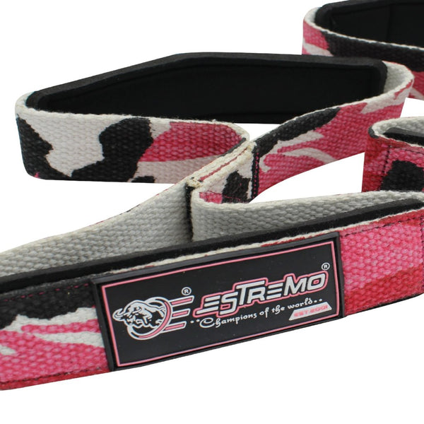 Figure 8 Double Wrist Straps - Camouflage Pink - Estremo Fitness