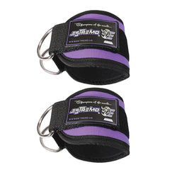 Ankle Straps for Cable Machine - Purple - Estremo Fitness