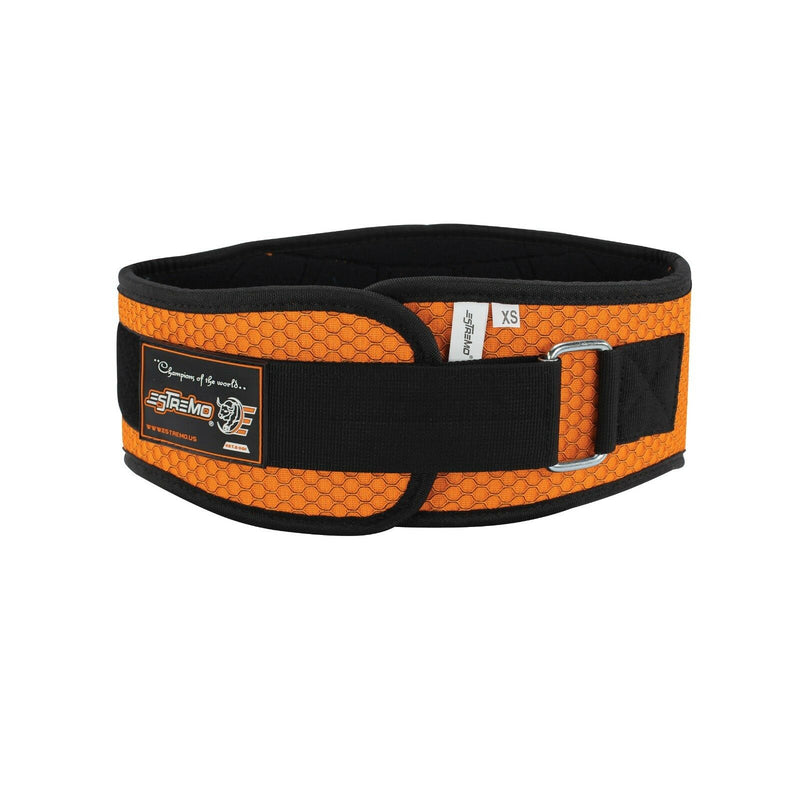 "Weightlifting Belt 6"" Neoprene - Orange - Estremo Fitness"