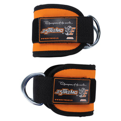 Ankle Straps for Cable Machine - Orange - Estremo Fitness