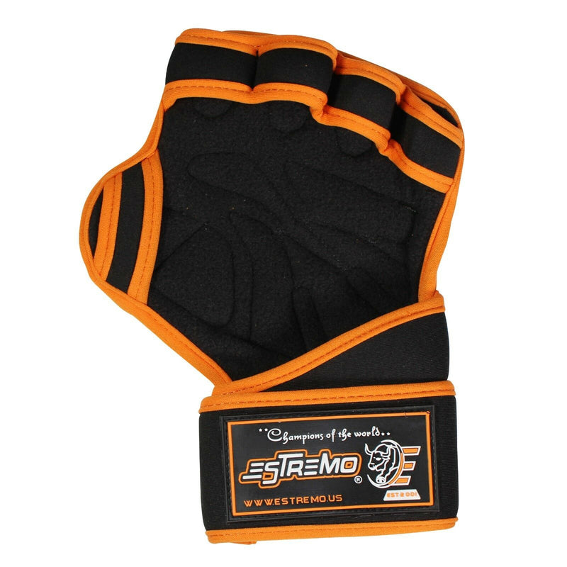 Weightlifting Gloves - Orange - Estremo Fitness