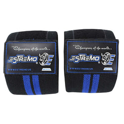 Knee Wraps Black/Blue - Estremo Fitness