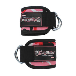 Ankle Straps for Cable Machine - Pink Camouflage - Estremo Fitness