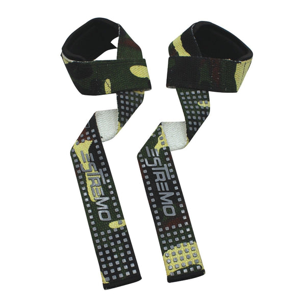 Bar Lifting Straps Camouflage Green - Estremo Fitness