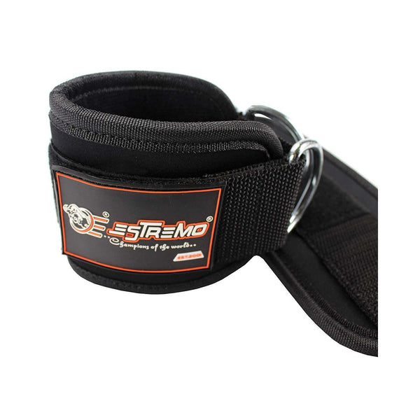 Ankle Straps for Cable Machine - Black - Estremo Fitness
