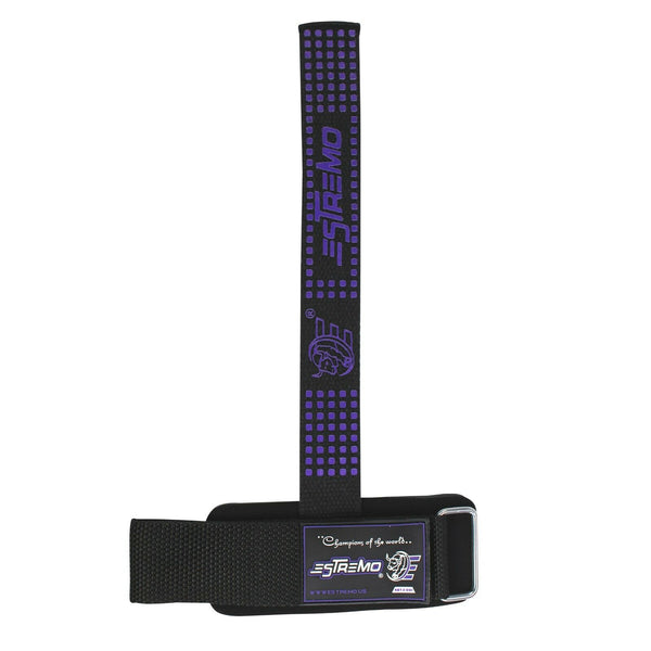 Wrist Support Bar Lifting Straps - Purple - Estremo Fitness