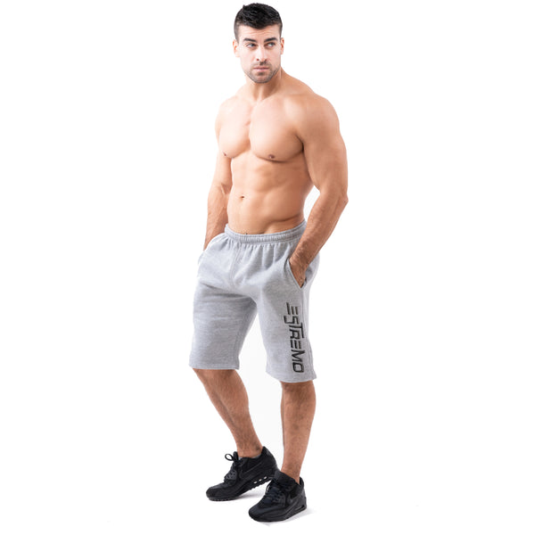 Estremo Fitness Poly/Cot Blend Premium Shorts - Grey - Estremo Fitness