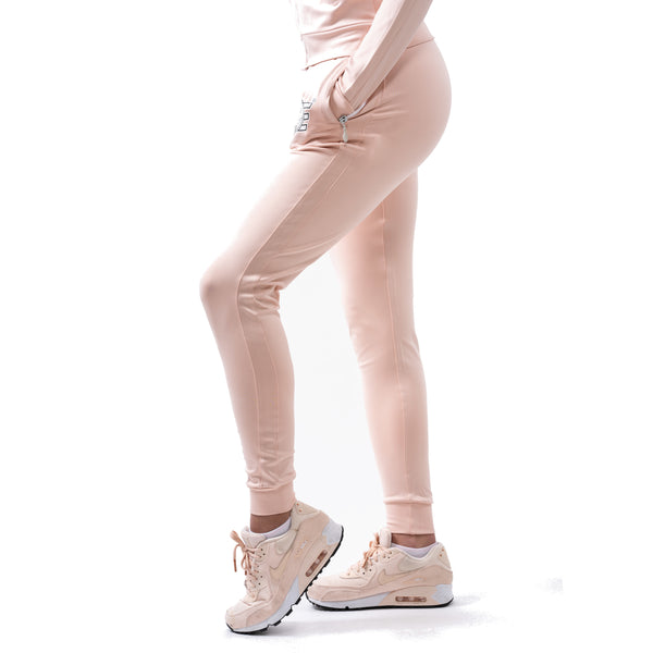 Poly-Span Series Women's Jacket & Jogger Set - Tea Pink - Estremo Fitness