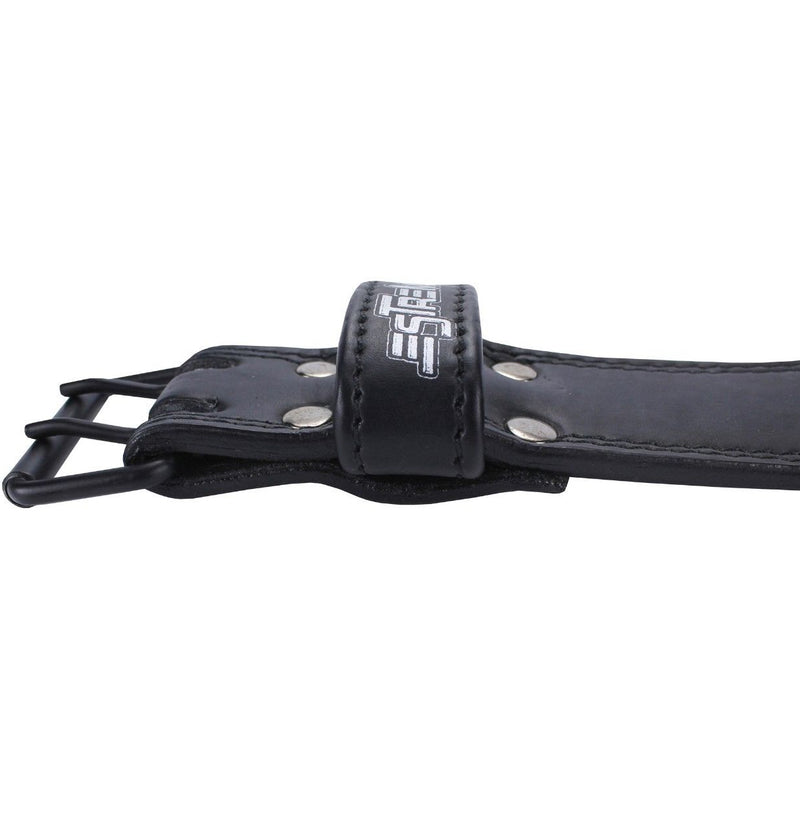 "Genuine Leather Weightlifting Belt 6"" Wide - Black - Estremo Fitness"