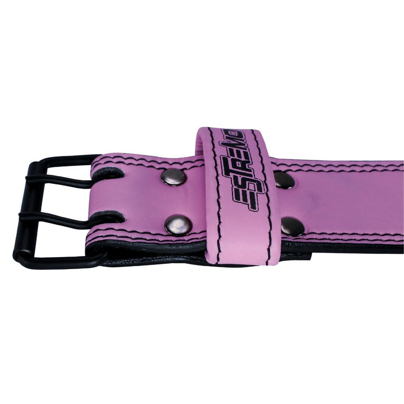 "Genuine Leather Weightlifting Belt 4"" Wide Pink - Estremo Fitness"
