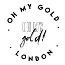 Oh My Gold London Black and White logo
