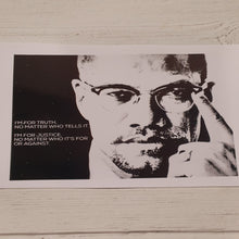 Load image into Gallery viewer, Malcom X Quote and Portrait Print