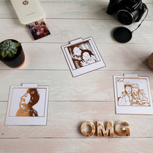 Load image into Gallery viewer, Personalised Foiled Polaroid style Portrait Print (1-2 People)