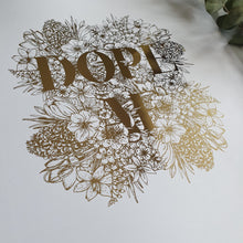 Load image into Gallery viewer, Create Your Own Floral Text Print