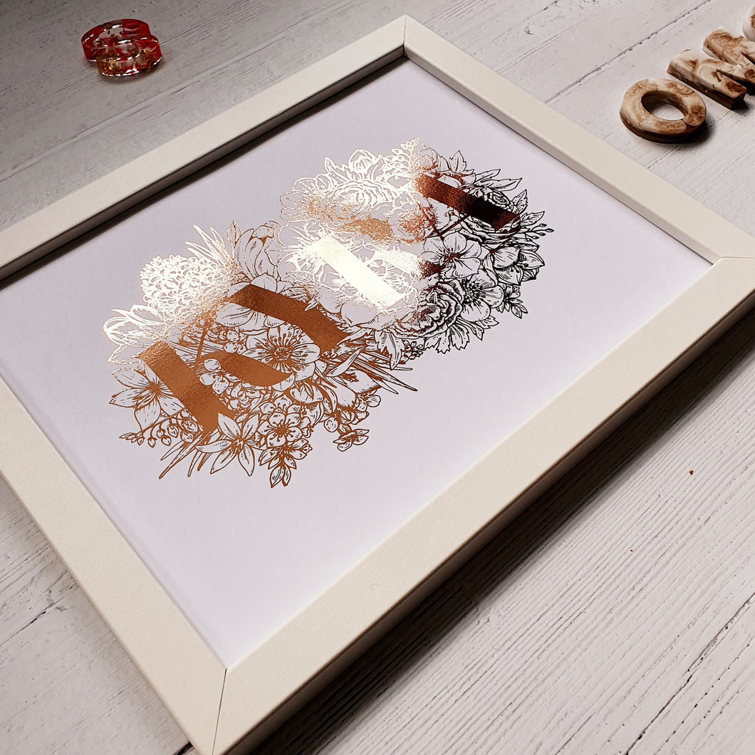 Create Your Own Floral Text Print