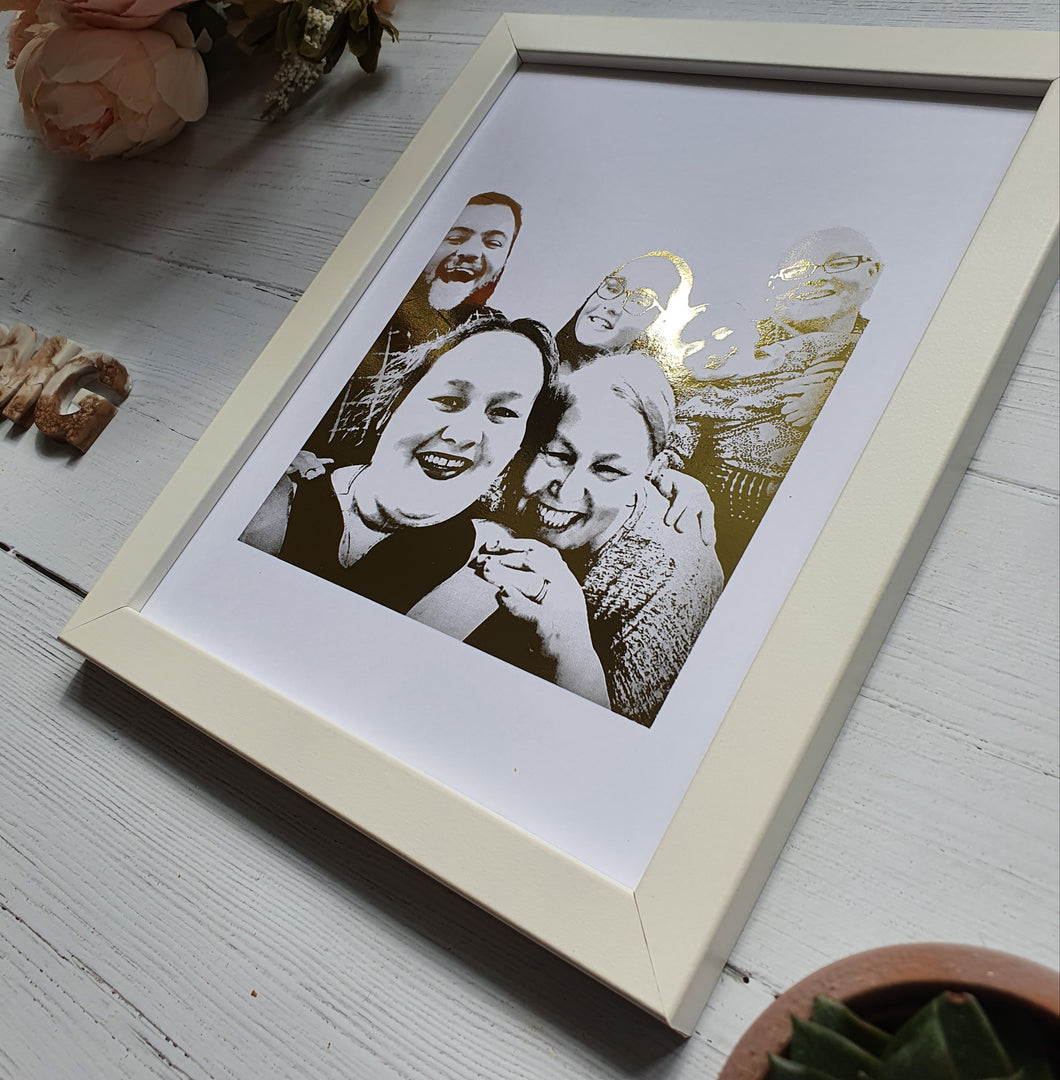 Foiled Group Portrait Print (5-8 People)
