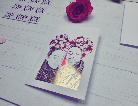 Roses and Portrait Duo Card