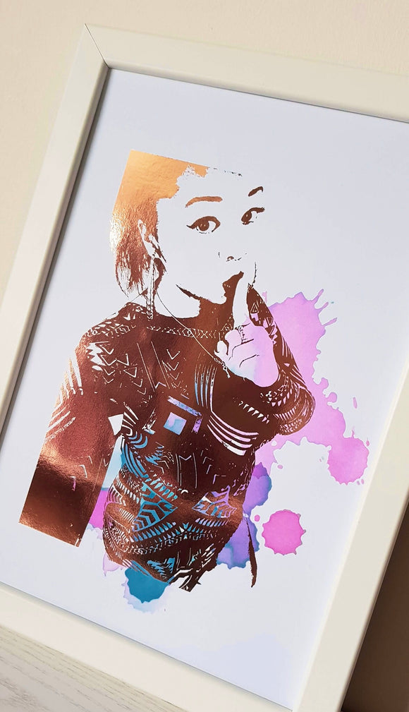 Colour Splash Personalised Portrait Print (1- 2 People)
