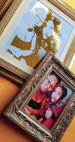 Personalised Foiled Portrait Print (1-2 People)
