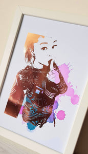 Colour Splash Personalised Portrait Print (3- 4 People)