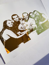 Load image into Gallery viewer, Foiled Group Portrait Print (5-8 People)