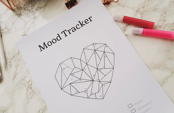 Heart Mood Tracker Printable