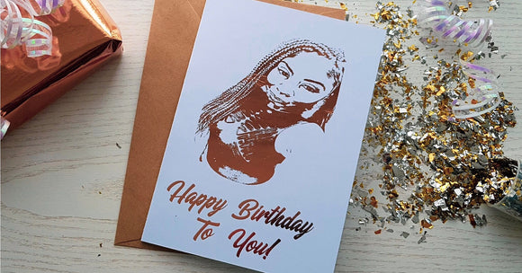 3-4 People Bespoke Foiled Portrait Card