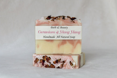 Geranium and Ylang Ylang Handmade Soap